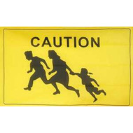 Vlag Vlag Caution Opletten