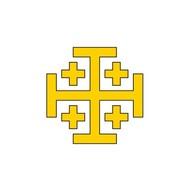 Vlag Kingdom Jerusalem vlag