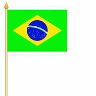 Stok- / zwaai-vlag Brazil hand stok zwaaivlag