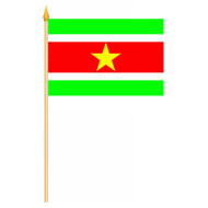 Stok- / zwaai-vlag Suriname hand stok zwaaivlag