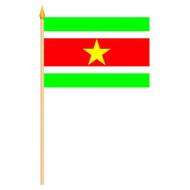 Stok- / zwaai-vlag Suriname vlag hand stok zwaaivlag