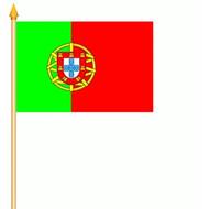 Stok- / zwaai-vlag Portugal hand stok zwaaivlag