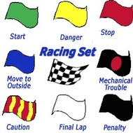 Vlag Set of 6 Racing Flags