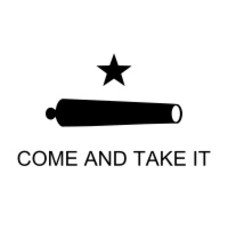 Vlag Come and take it vlag
