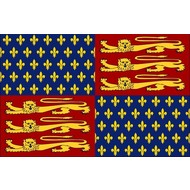 Vlag Royal Banner of King Edward III-1340–1406