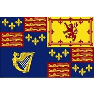 Vlag Royal Standard of the House of Stuart, used first by James VI and I