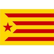 Vlag Catalonia Estelada rode vlag La Groga