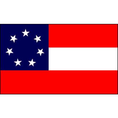 Vlag Confederate 7 Sterren vlag