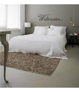 Muursticker Welterusten...