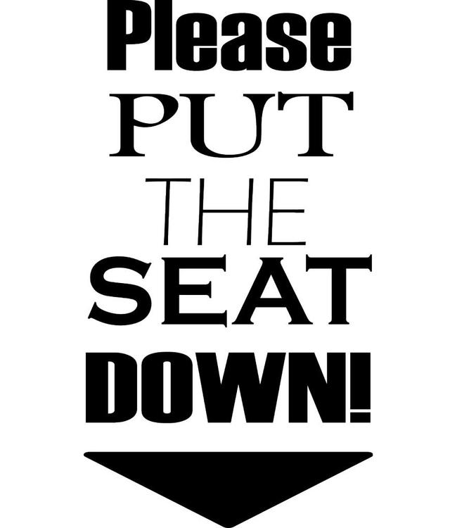 Please put the seat down