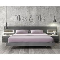 Muursticker Mrs & Mr