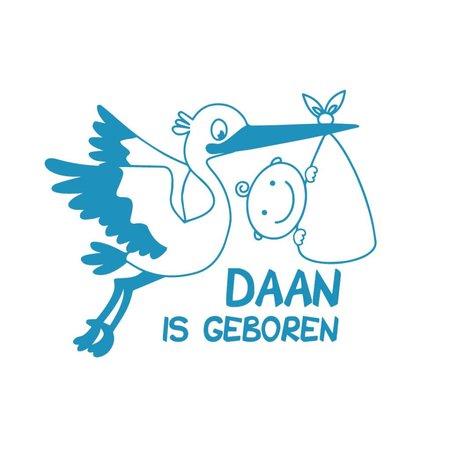 Raam sticker Is geboren met ooievaar (Jongen & Meisje)