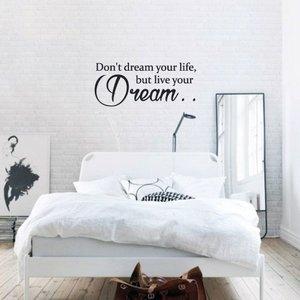Slaapkamer muurstickers of muurteksten wij hebben ze for Slaapkamer decoratie voor volwassenen
