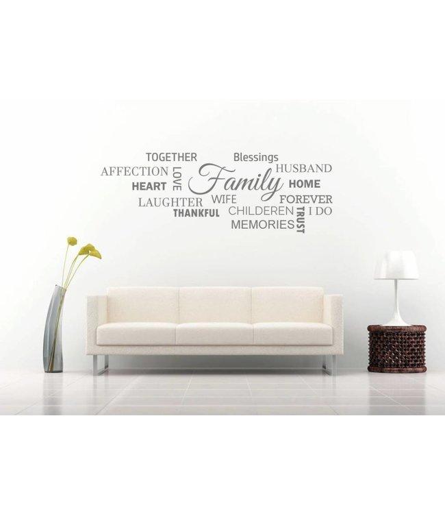 Muursticker Family wolk
