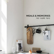 Muursticker keuken meals en memories