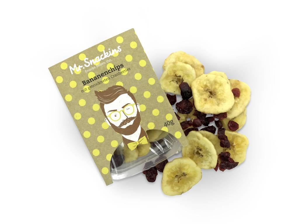 Bananenchips & Cranberries getrocknet