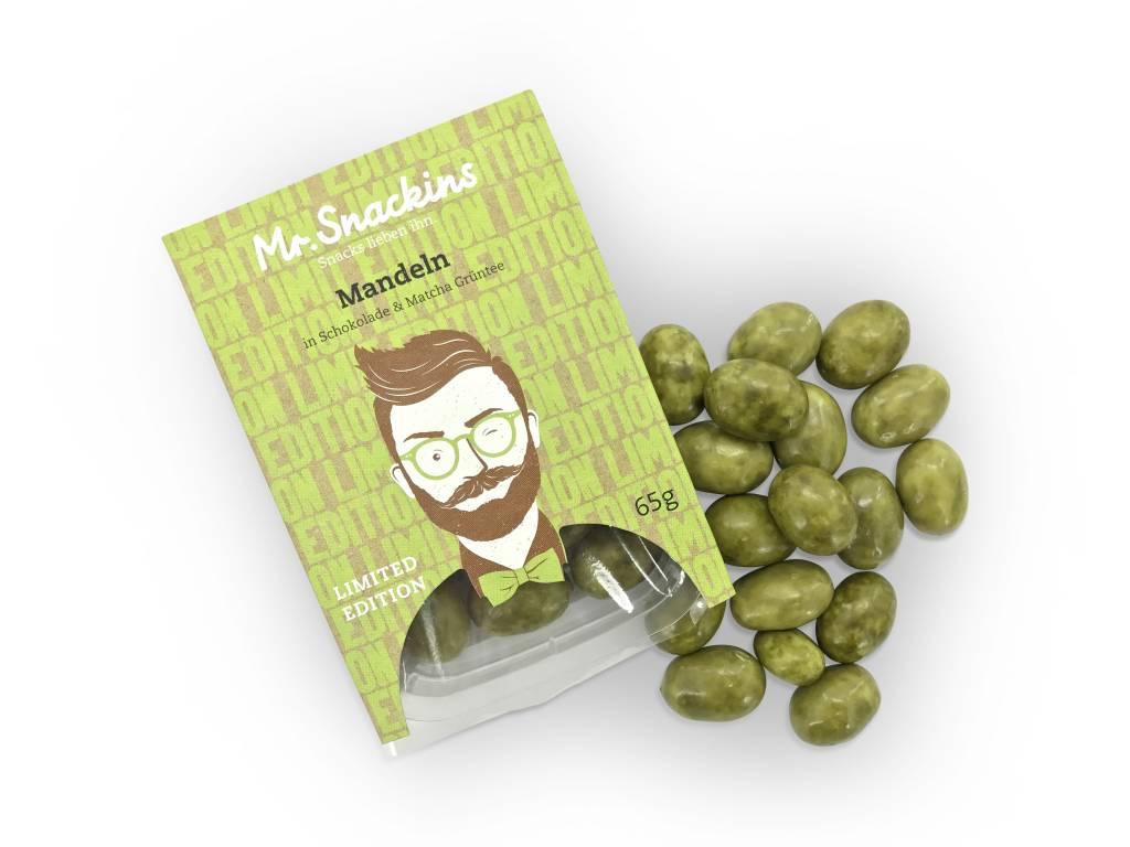 Limited Edition! Mandeln in Schokolade & Matcha Grün Tee