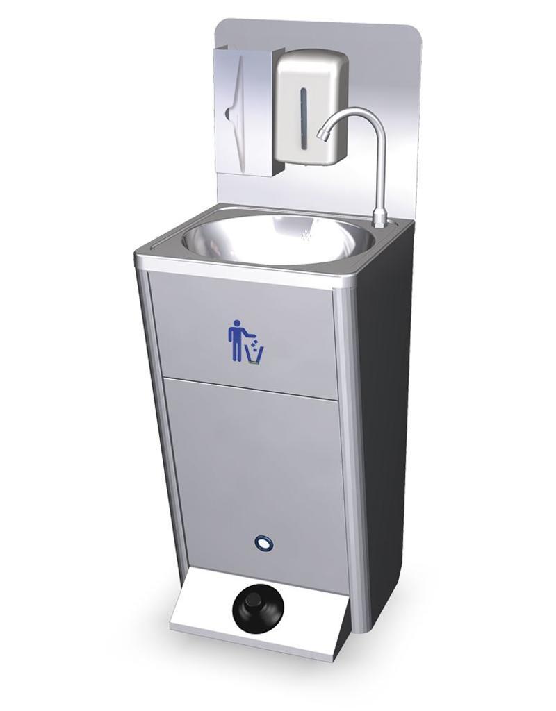 Mobiele wasbak met ingebouwde watertank  inoxrvscom  INOXRVSCOM # Wasbak Mobiel_001629