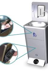 Mobiele wasbak met ingebouwde watertank