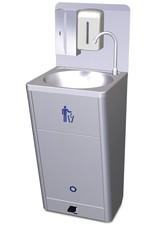 Mobile and autonomous hand wash basin high flow