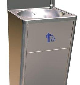 Standaard handwas-meubel met dispensers en knopbediening