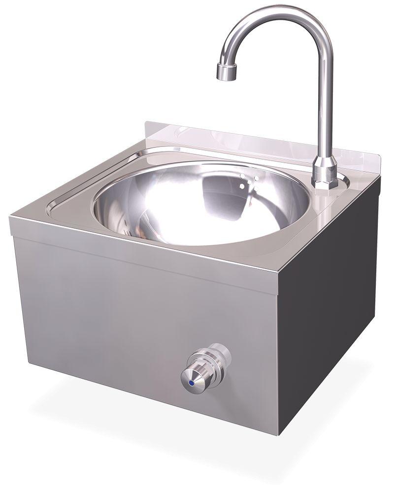 Handwasbak xsmall muurbevestiging inox rvs com for Lavabo de acero inoxidable