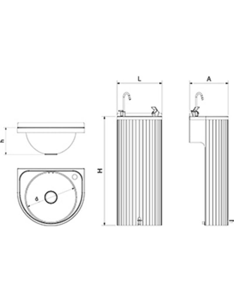 Column Fountain - Pedal-Operated