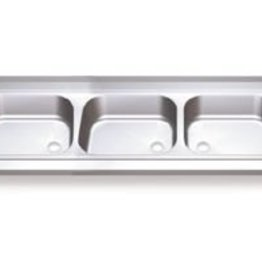 Sink Unit with three sinks and two drainboards