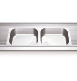 Sink Unit with two sinks and two drainboards