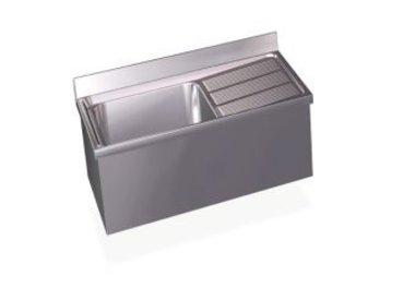 Wall-mounted sink units