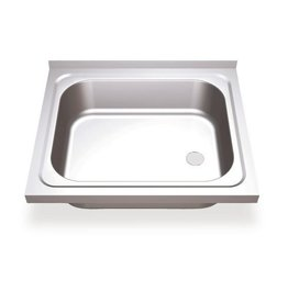 Sink wall mounting with finishing