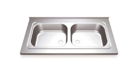 2 Sinks Wall Mounting with finiqhing