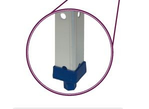 Kit voor moduleerbaar inox magazijnrek met legborden 1.5 mm