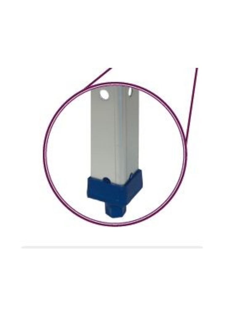 Kit voor moduleerbaar inox magazijnrek met legborden 0.8 mm