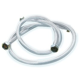 Flexible rubber hose inox for shower taps