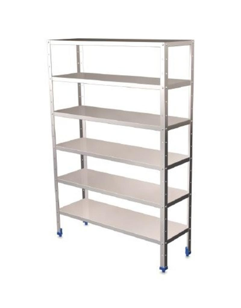 Complete modular rack with 0.8 mm shelves