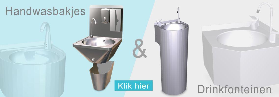 Handwasbakjes & drinkfonteinen