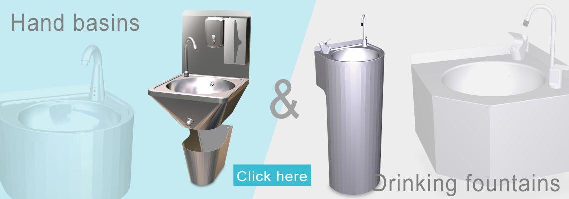 Hand basins & drinking fountains