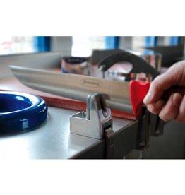 Knife sharpener on worktop