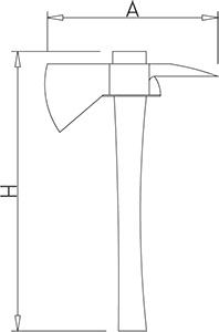 Axe with polyethylene handle