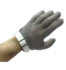 Mesh gloves in stainless steel