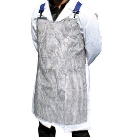 Protective mesh apron in stainless steel