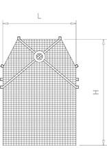 Beschermende maasschort in roestvrij staal