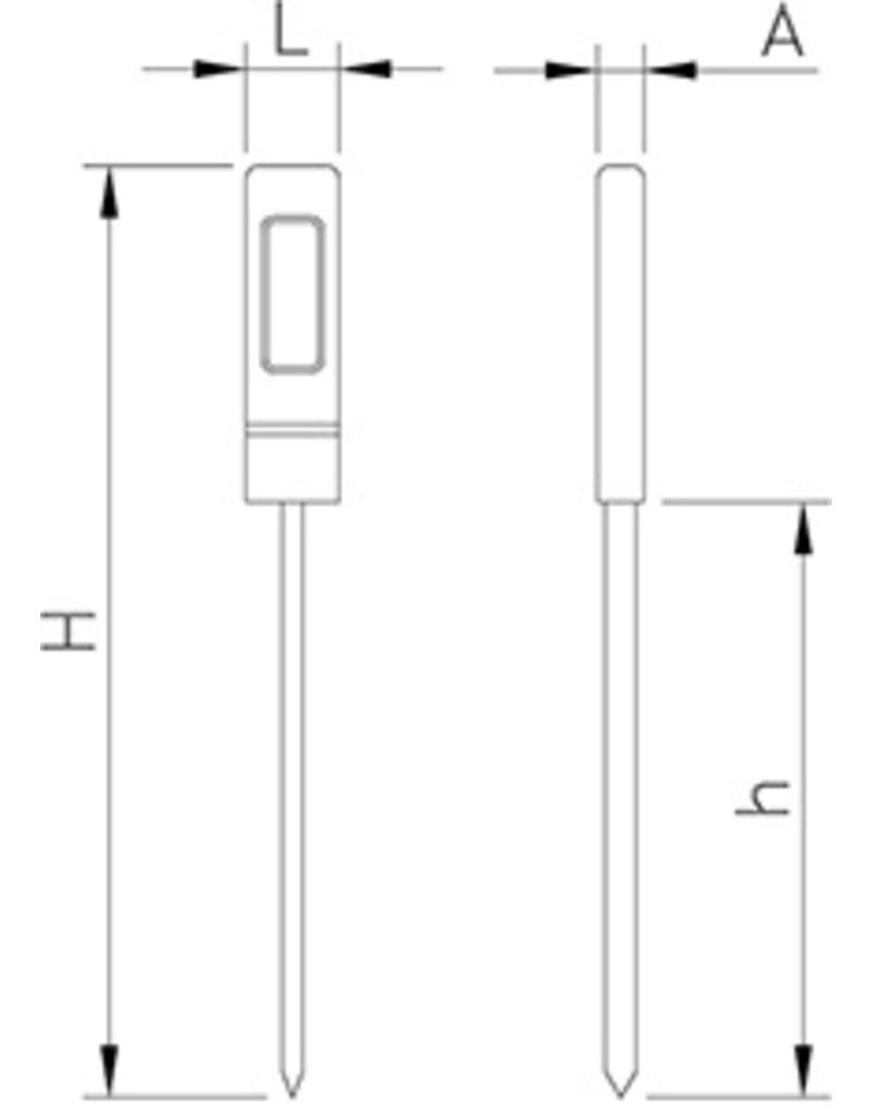 Waterbestendige digitale thermometer met alarm