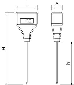 Elektronische thermometer met sonde