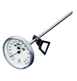 Round oven thermometer with probe