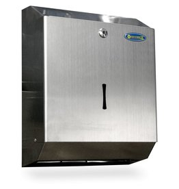 Towel dispenser in stainless steel