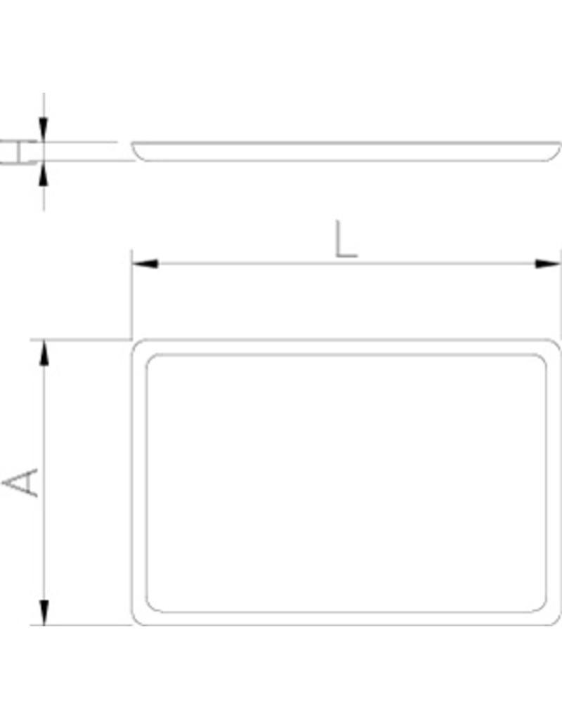 gastronorm 1 1 dienblad anti slip inox rvs com. Black Bedroom Furniture Sets. Home Design Ideas