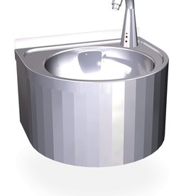 Round sink with electronic control