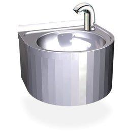 Ronde wasbak met temperatuur bediening